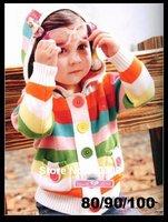 Free shipping Boys/Girls Sweater 3pcs/lot Hooded sweater Kids clothing