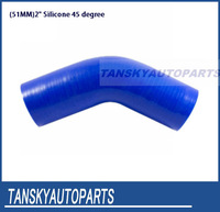"""Tansky - Universal 45 degree Elbow Hose 51mm 2"""" Silicon"""