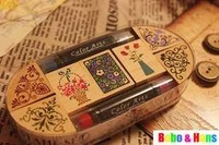 Free Shipping/NEW Classical Angle lace wooden stamp set / gift box (7 pcs/set + 2 pcs ink pad pen) / Wholesale