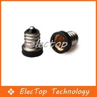Free shipping E12-E10 Holders Lamp Converters E12 to E10 LED Light Bulb Lamp Adapter 100pcs/lot