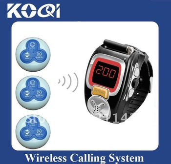 DHL EMS Free Shipping Pager Calling System,restaurant paging systems,wrist receiver < 10pcs buttons + 2 pcs receiver>