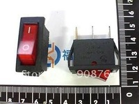 HongKong Free shipping Rocker switch 250VAC15A 13mm*30mm  3 copper connectors  with light