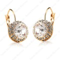 Promotion Price!Hot sell Gorgeous Swaro Crystal 18K Rose Gold Plated River Moon Emulational Diamond Earring E067R1