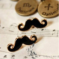 Min.order is $15 (mix order)Free Shipping Fashion Jewelry Mini Vintage Moustache Mustache Stud Beard Earrings