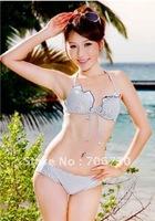 (10pcs/lot) Free Shipping 2012 New Crazy Hot Ladies'/Women Bikini Sets/Swimsuit,Sweet Girl Flouncing Gather Fashion Bikini Sets