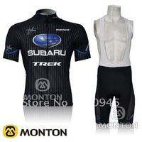NEW!2012 SUBARU Team Black Cycling Jersey/Cycling Clothing/Cycling Wear+Short Bib Pants/Shorts-B074 Free Shipping