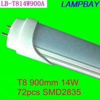 Good quality LED tube T8 lamp 14W 900mm compatible with inductive ballast remove starter