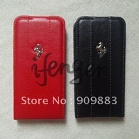 TOP PU leather with plastic case for iphone 4G,4S,free shipping,100pcs/lot,cell phone cover,handphone cover