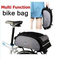 ROSWHEEL New Cycling Bicycle Bag Bike Outdoor Travel 13L Rear Seat Bag Pannier Black Bike Bag