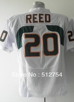 Free Shipping,#20 Ed Reed Jersey,College Football Jersey,embroidery logos,size 48-56,mix order