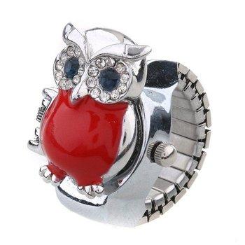 Creative Fashion Quartz Finger Stretch Ring Watch Animal Cover Multi Style