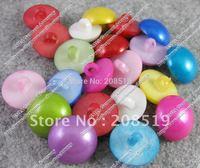 NB0030 100pcs/lot 18mm Plastic Pearl buttons mix colors Women dress button garment accessories