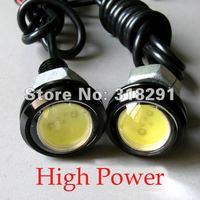 12V car led reversing light eagle eye lamp Backup Stop Tail daytime running light White Color 2pcs