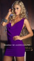 Crazy Promotion, Cpam Free Shipping! Sexy Clubwear, Fashion Dress, White/Black/Red/Purple Color, One size, 2328p