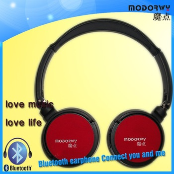 Free shipping!!2012 Fashion design Long music time Bluetooth Stereo headphone
