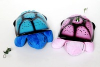 New USB cable with 4 Music paly Turtle Night Star Sky Constellation baby sleep Light Lamp Toy 4 color  without retail box