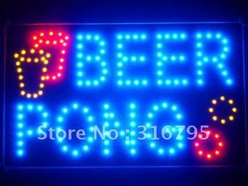 led015-b Beer Pong Bar Pub LED Neon Business Light Sign