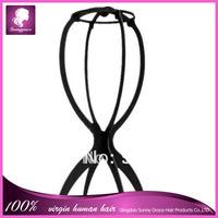 Black color plastic  wig stand/Wig Holder/wig stand holder