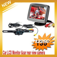 "Wireless Rear View System Reversing Video System 3.5 ""TFT monitor Rearview Camera ,Free Shipping"