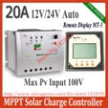Free Shipping 20A Tracer2210 mppt solar charge controller with remote display MT-5,12/24V auto work