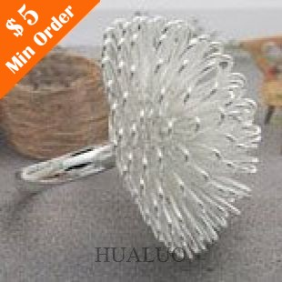 New Style Hot Fashion Jewelry Unique Dandelion Ring Flower Finger Rings Adjustable R137 R138(China (Mainland))