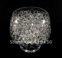 high clear 100%colorfast absorbent polymer crystal water  beads gel pearl wall ball filler for vase centerpiece