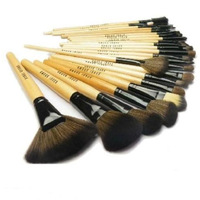 High Quality+ Low Price!!!  New Fashion 24 Pcs Pro Black Make Up Kit Makeup Brushes Cosmetic set With Roll Up Bag