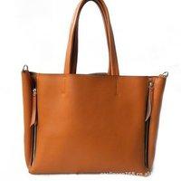 Hot selling fashion designer genuine leather shopping handbag reconfiguring to phantom bag with separable inner bag