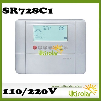 2012 New Version SR728C1 Solar Controllers 2 Collectors, 2 Tanks, 5 relays 6 sensors 10 systems Integrated with other heating