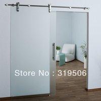 Free Shipping Modern 304 stainless steel barn door hardware for glass door hardware