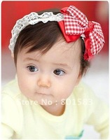 HOT!Freeshipping! Bow elastic headbands/baby/kids/infant flower headband/Hair ribbon band/Hair Accessories/Fashion/Wholesale