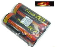 DHL Free +50PCs/Lot Trustfire 26650 Colourful Battery 3.7V 5000mAh Rechargeable Protected Li-ion Battery Energy Torch Battery