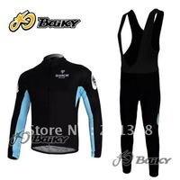 2012 BIANCHI team bike long Sleeve cycling jersey bib shorts bike clothing bicycle wear 3D coolmax padded