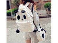 Free shipping Panda design School Backpack set , shoulder bag ,mother+baybaby student school bag set BP08