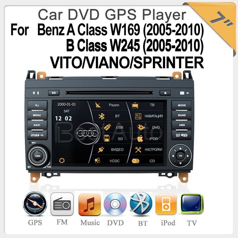 Virtual 8 DISC,3D UI 7.0'' Car DVD GPS, IPOD Bluetooth TV, MP5,CANBUS For Benz A Class W169 B Class W245 VITO/VIANO/SPRINTER(China (Mainland))