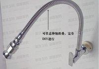 Free Shipping!In wall mounted brass kitchen faucet. fold expansion. DIY  kitchen sink tap.Washing machine faucet 1pcs/lot