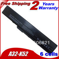 6Cells Replacement Laptop Battery For Asus K42 K52 A31-K52 A32-K52 A41-K52 A42-K52 B53 A31-B53 11.1V 5200MAH