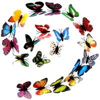 Retail Packing 6~8cm Artificial PVC Butterfly, Emulational Decorative Butterfly Home Decoration, Fridge Magnet  Free Shipping
