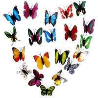 Wholesale 50PCS/Lot 4cm Small Size Artficial Butterfly Home Decoration Fridge Magnets / Refrigerator Magnet Butterflies
