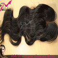 High Quality  Middle Part 1B 100% Peruvian Virgin Hair Lace Closures Body Wave(4*4)