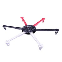 HJ600 6-axis Multi aircraft Quad-Rotor Multi RC Heli Flyer Frame wheel UFO 12987