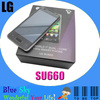 HK post free shipping 4.0 inches capacitive touch screen 8G internal memory Android 2.3 smart phone original LG SU660 unlocked