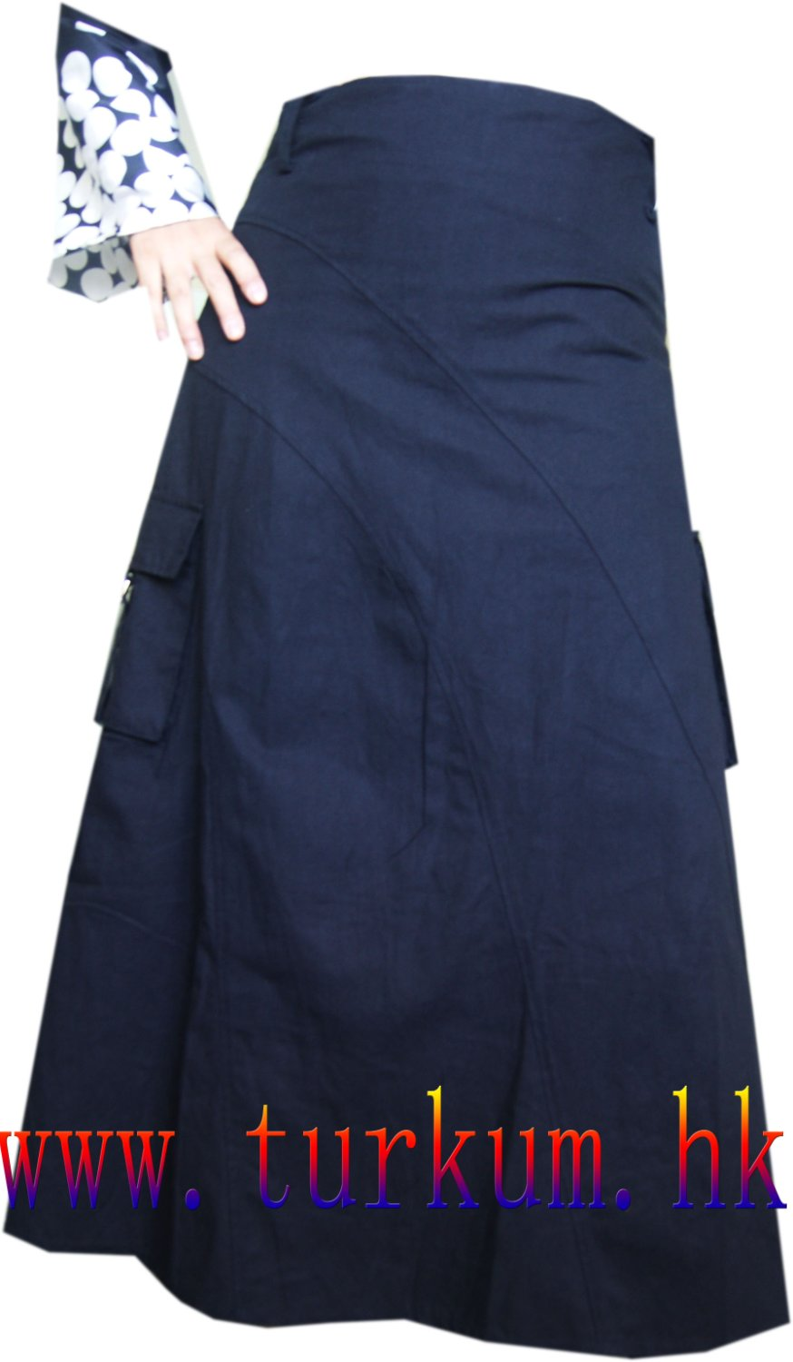 Popular  Skirt Muslim Women39s Elastic AnkleLength Long Bust Skirts Saia De