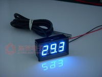 "Free shipping,New Blue 0.36""  LED -55C-125C Digital Thermometer Temperature  Meter DS18B20 Sensor"