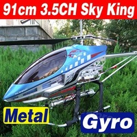 91cm Big Size 3.5CH RC Helicopter Metal Gyro with LED light Gyroscope Sky King HCW 8501 8500 SkyKing Wholesale