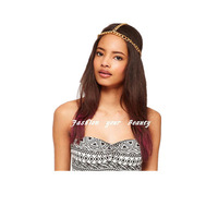 Free Shipping~~ 2012 Newest Scale Metal Elastic Punk Hairband Headband for Women,  M009