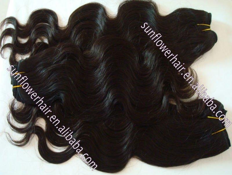 sunflower hair Grace---virgin Peruvian remy human hair extension accept credit card(China (Mainland))