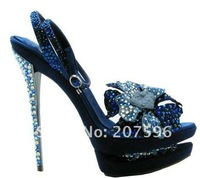 Free shipping high heel shoes,women pumps,evening shoes crystal shoes with shining flower