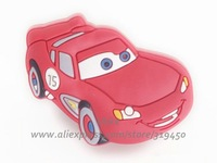 1 pc/lot Baby Home Decor, Kids Furniture Art, Soft Children PVC Cartoon Carbinet Drawer Pulls Knobs, Boys Red Car Handles, DB4