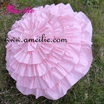 Розовый оборками зонты канкан свадебные зонтик зонт